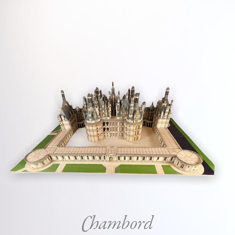 Maquette château de Chambord